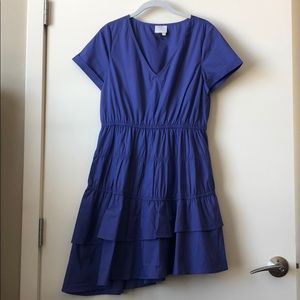New Anthropologie indigo asymmetrical dress